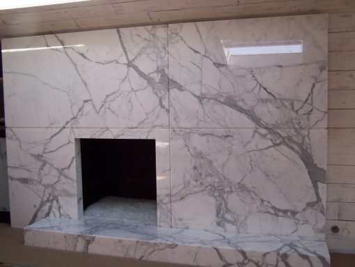 fireplace white marble